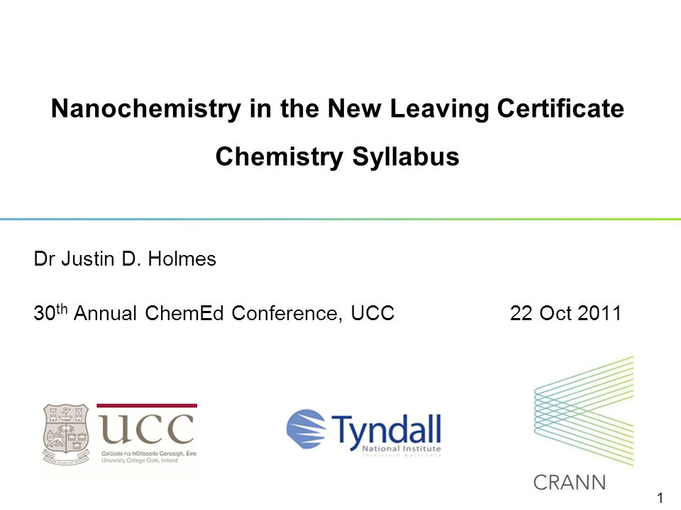 Nanochemistry in the New Leaving Certificate Chemistry Syllabus