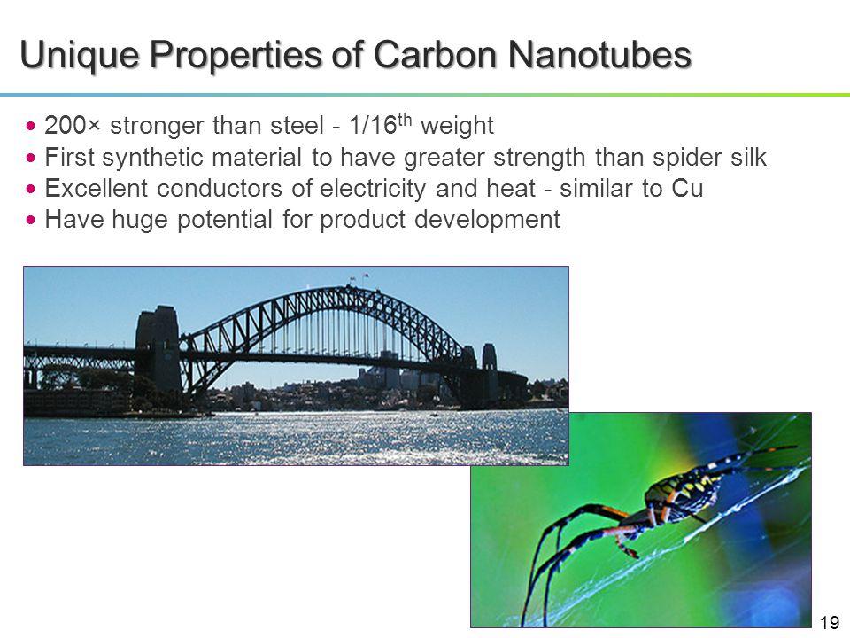 Unique Properties of Carbon Nanotubes