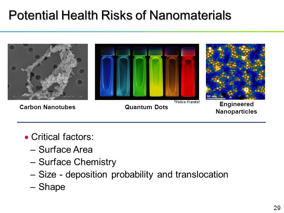 Potential Health Risks of Nanomaterials