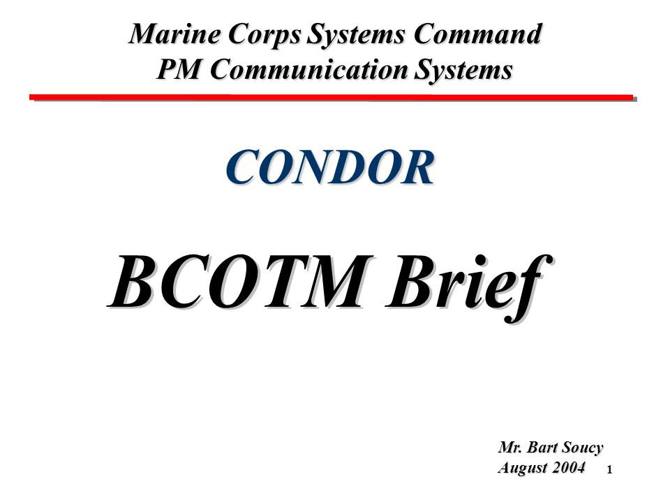 Marine Corps Systems Command PM Communication Systems