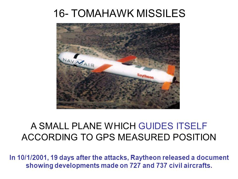 16- TOMAHAWK MISSILES