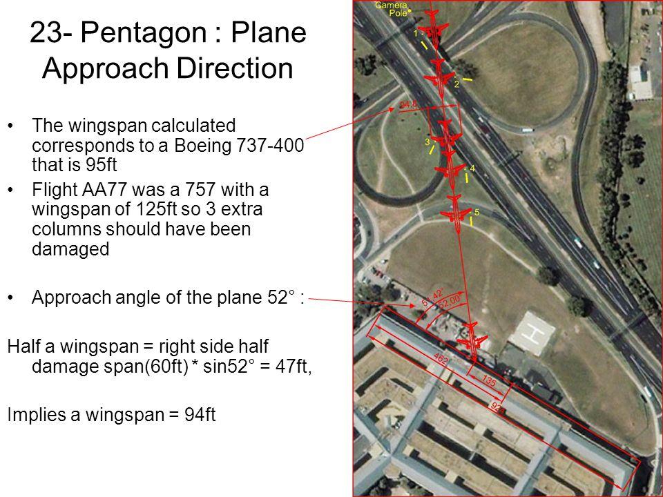 23- Pentagon : Plane Approach Direction