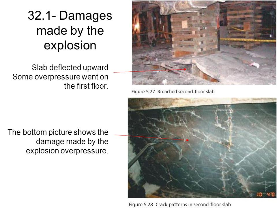 32.1- Damages made by the explosion