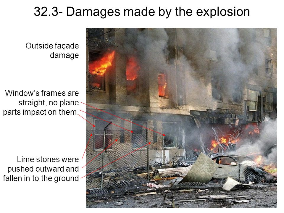 32.3- Damages made by the explosion
