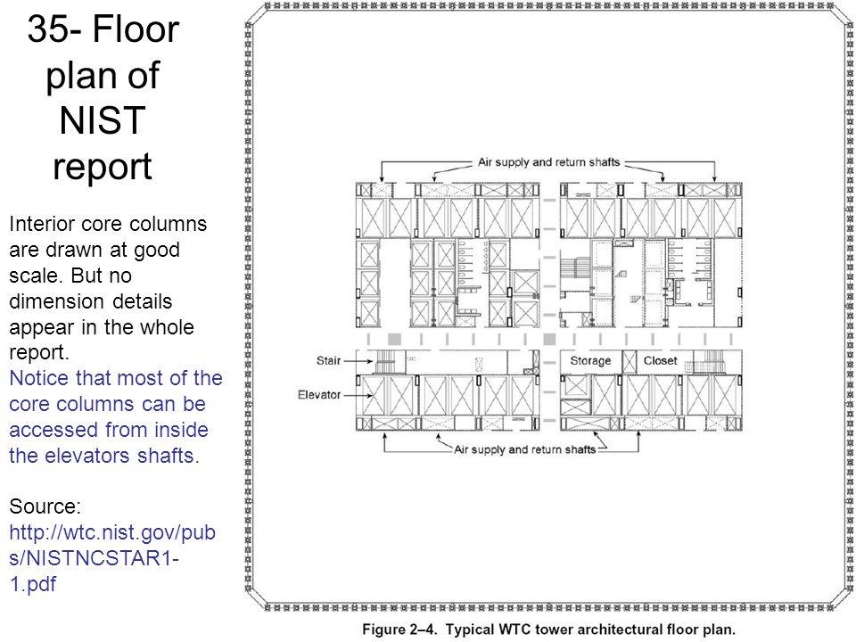 35- Floor plan of NIST report