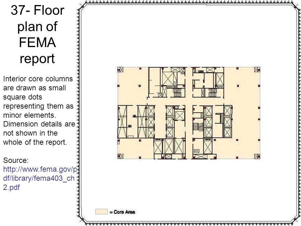 37- Floor plan of FEMA report