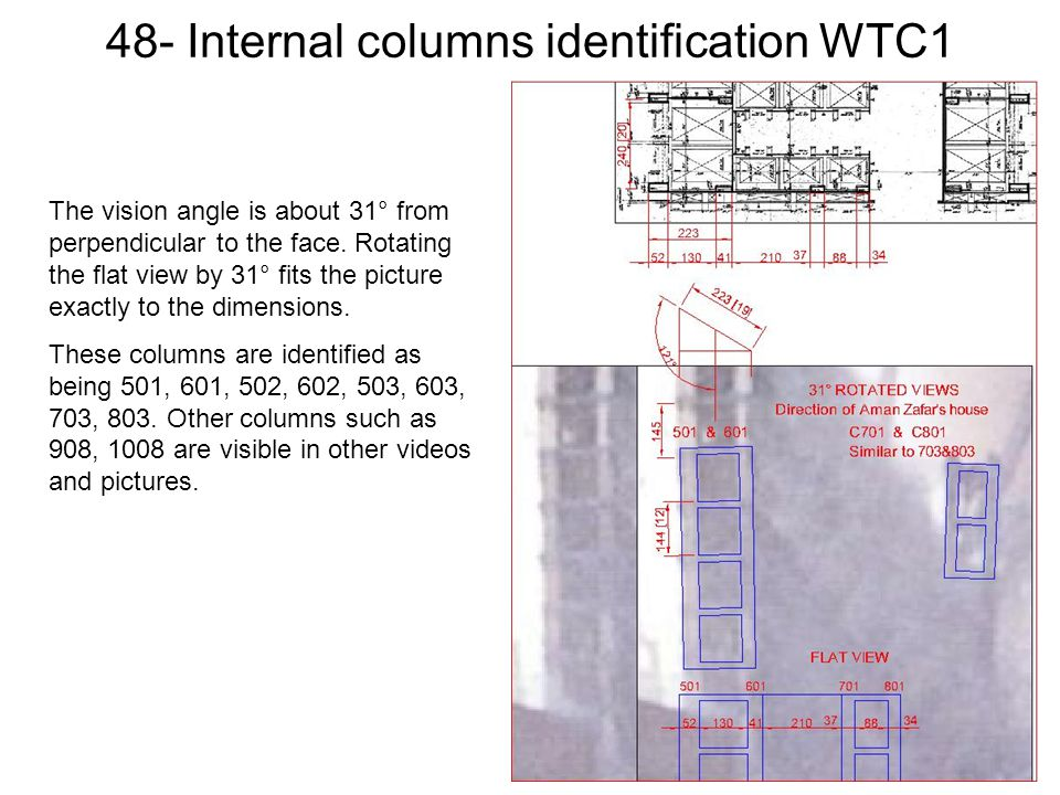 48- Internal columns identification WTC1