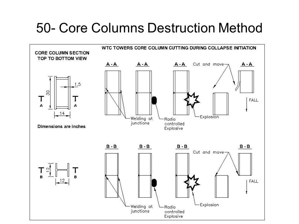 50- Core Columns Destruction Method