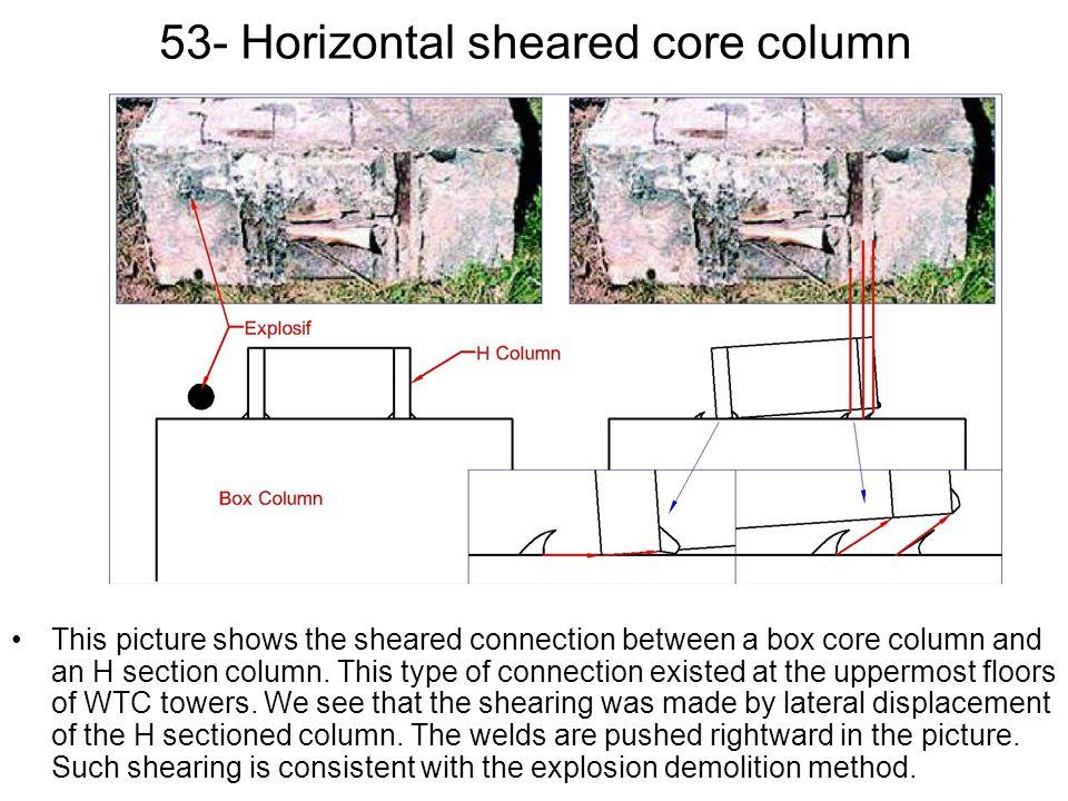 53- Horizontal sheared core column
