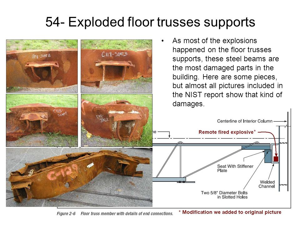 54- Exploded floor trusses supports