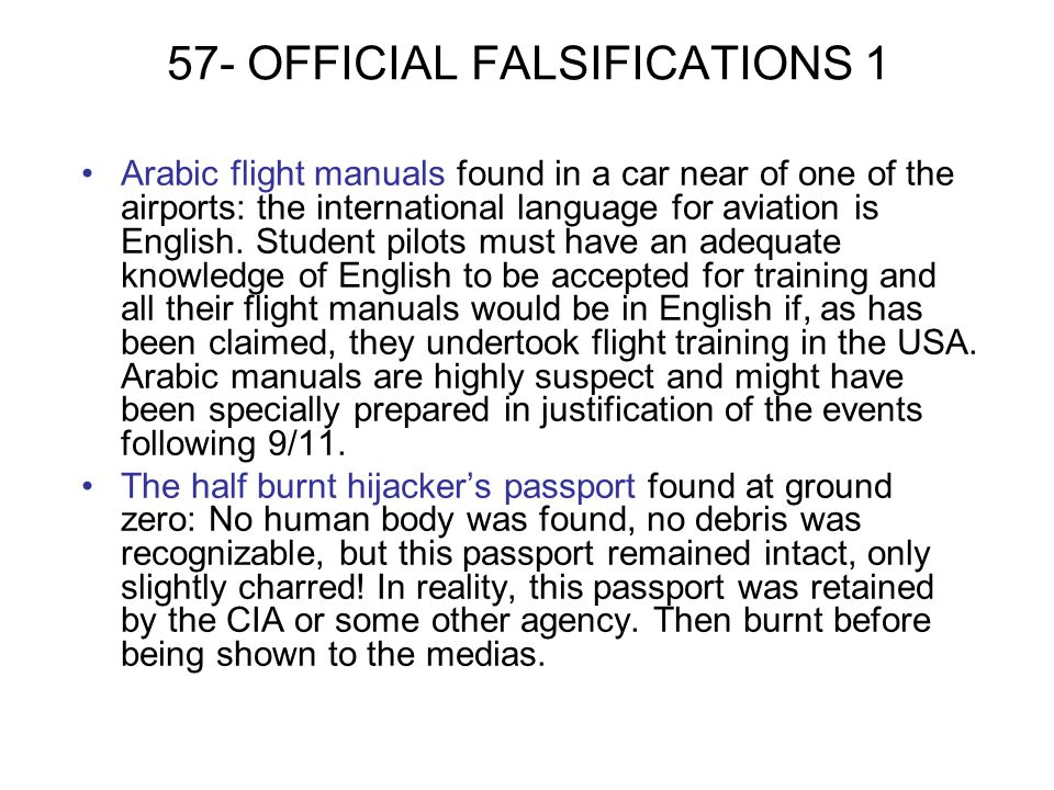 57- OFFICIAL FALSIFICATIONS 1
