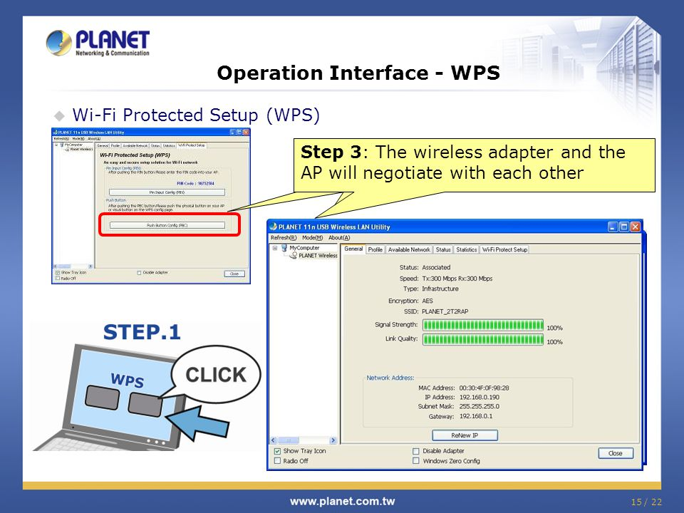 Operation Interface - WPS