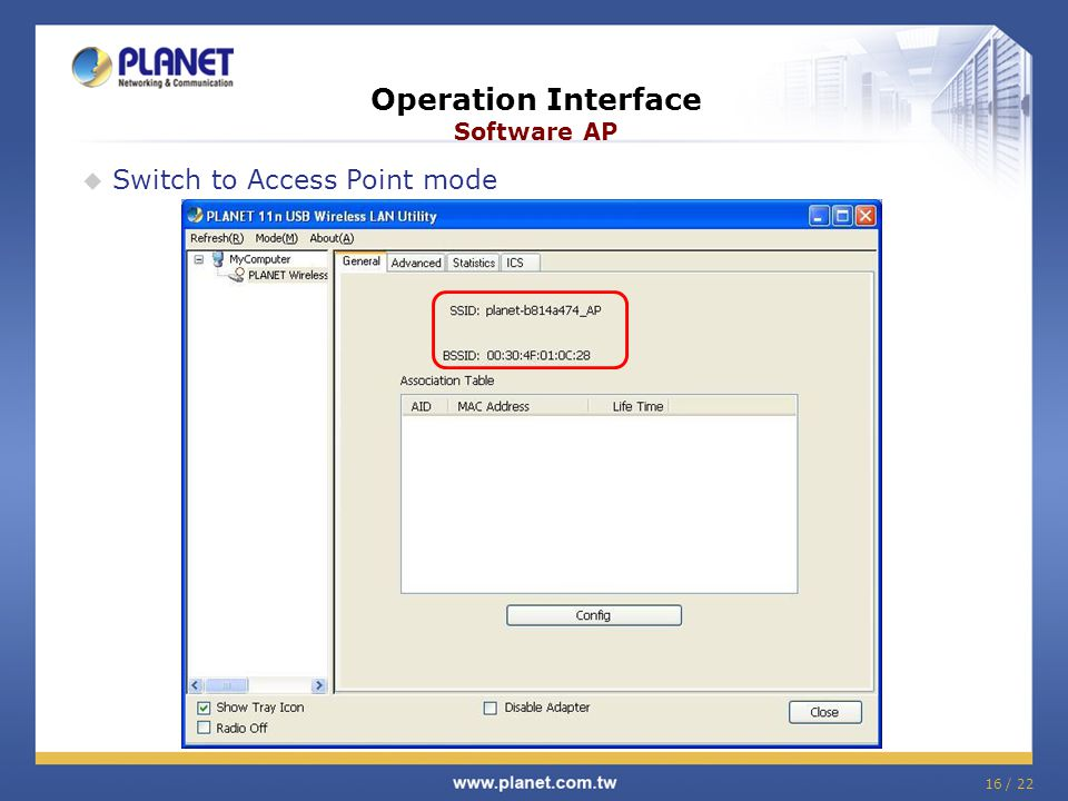 Operation Interface Software AP
