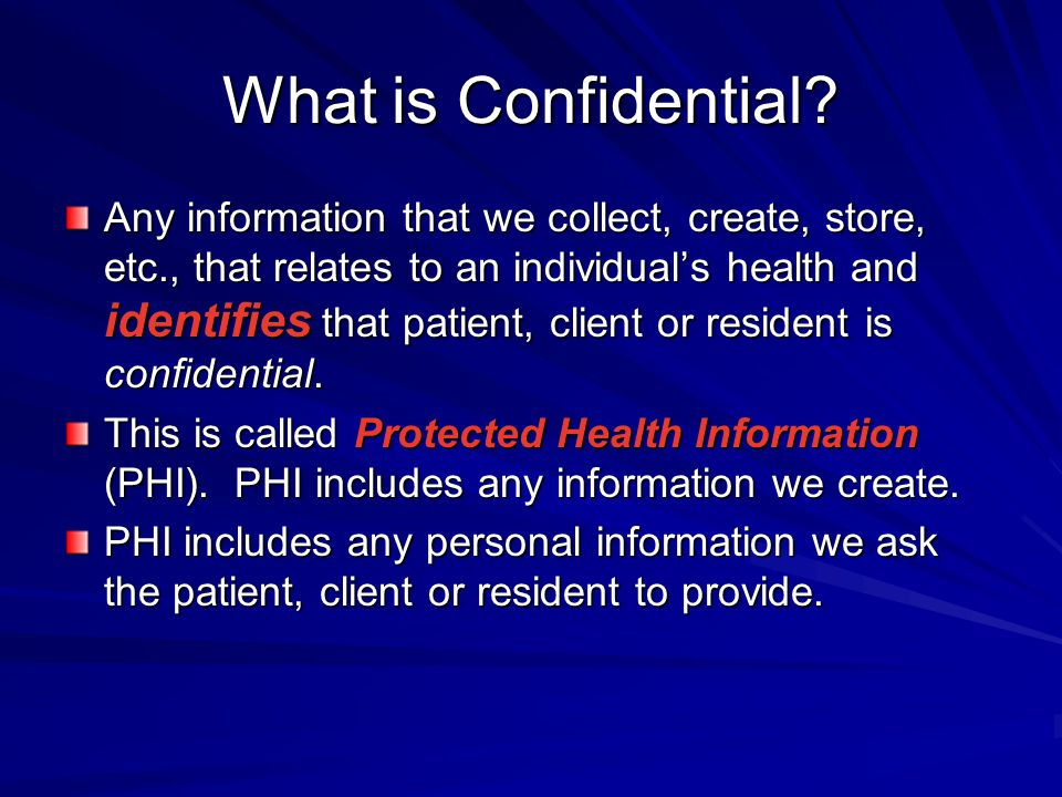 What is Confidential