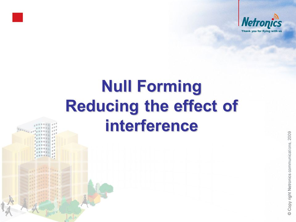 Reducing the effect of interference