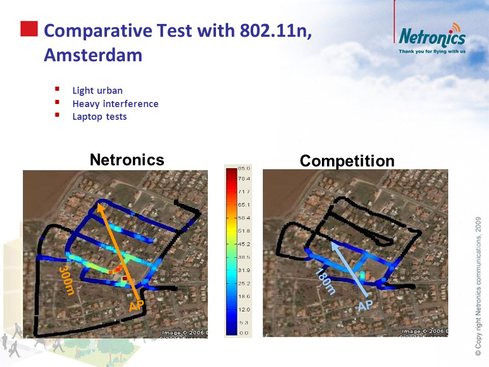 Comparative Test with 802.11n, Amsterdam