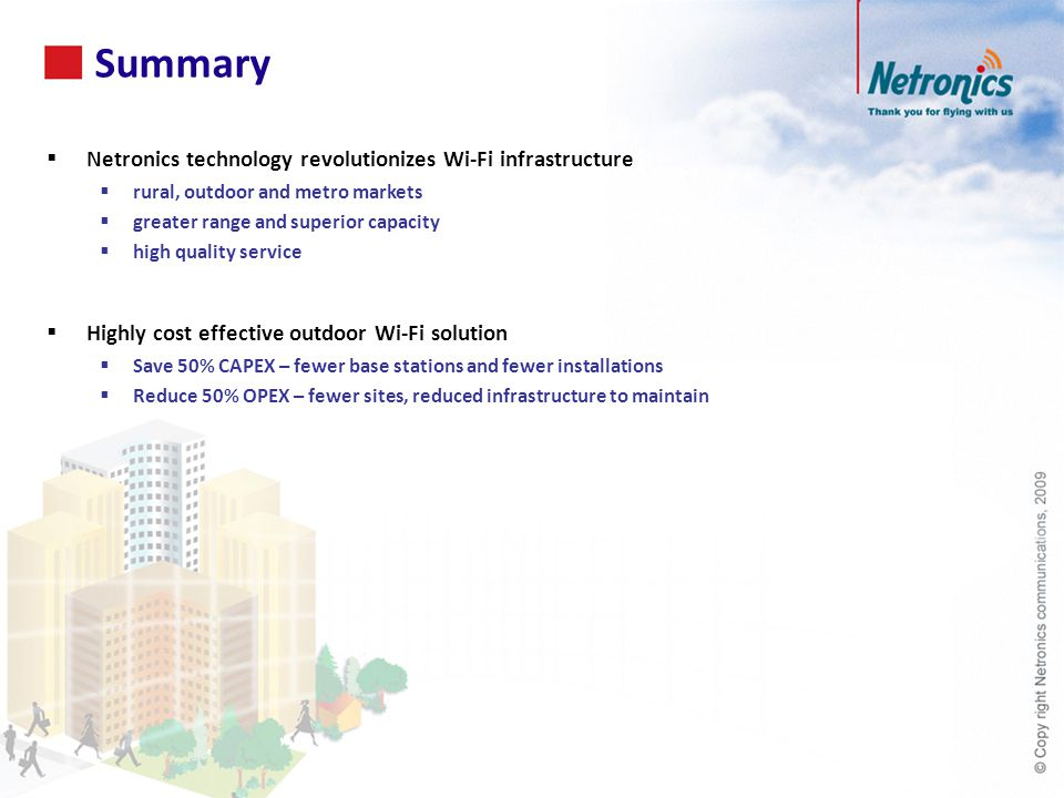 Summary Netronics technology revolutionizes Wi-Fi infrastructure