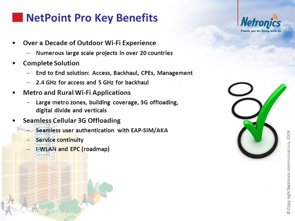 NetPoint Pro Key Benefits