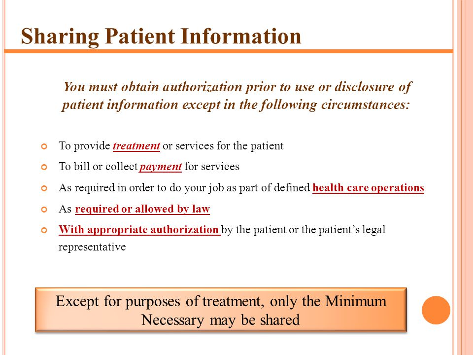 Sharing Patient Information