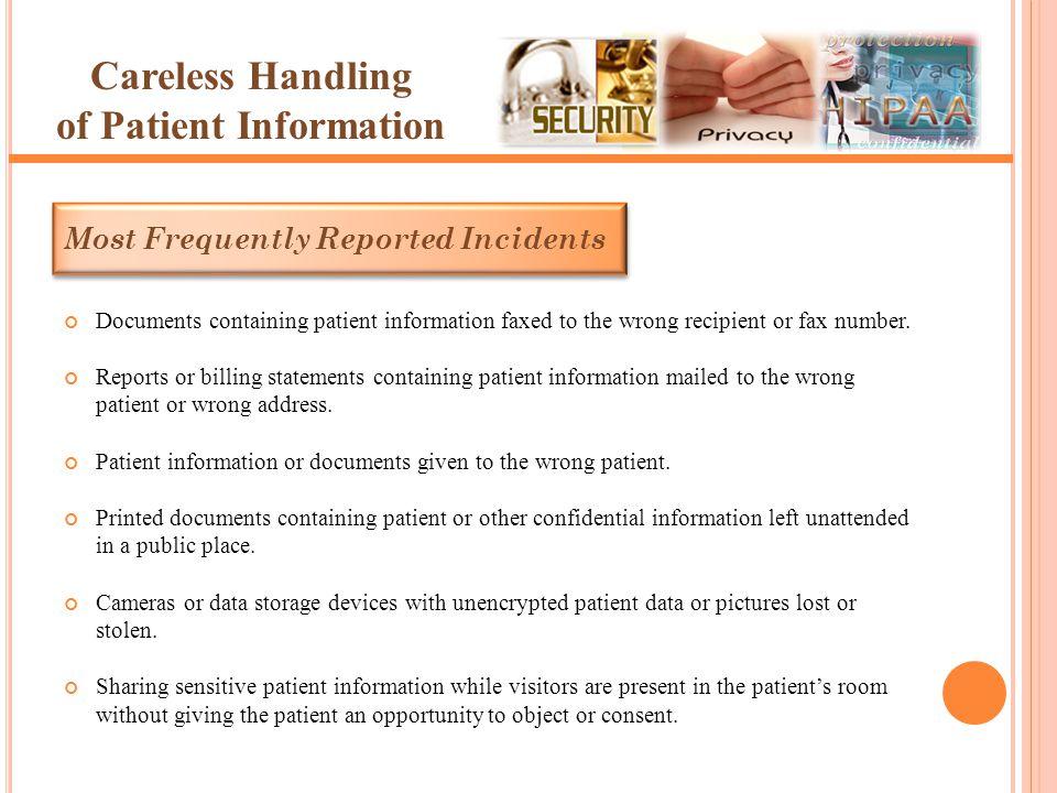 Careless Handling of Patient Information