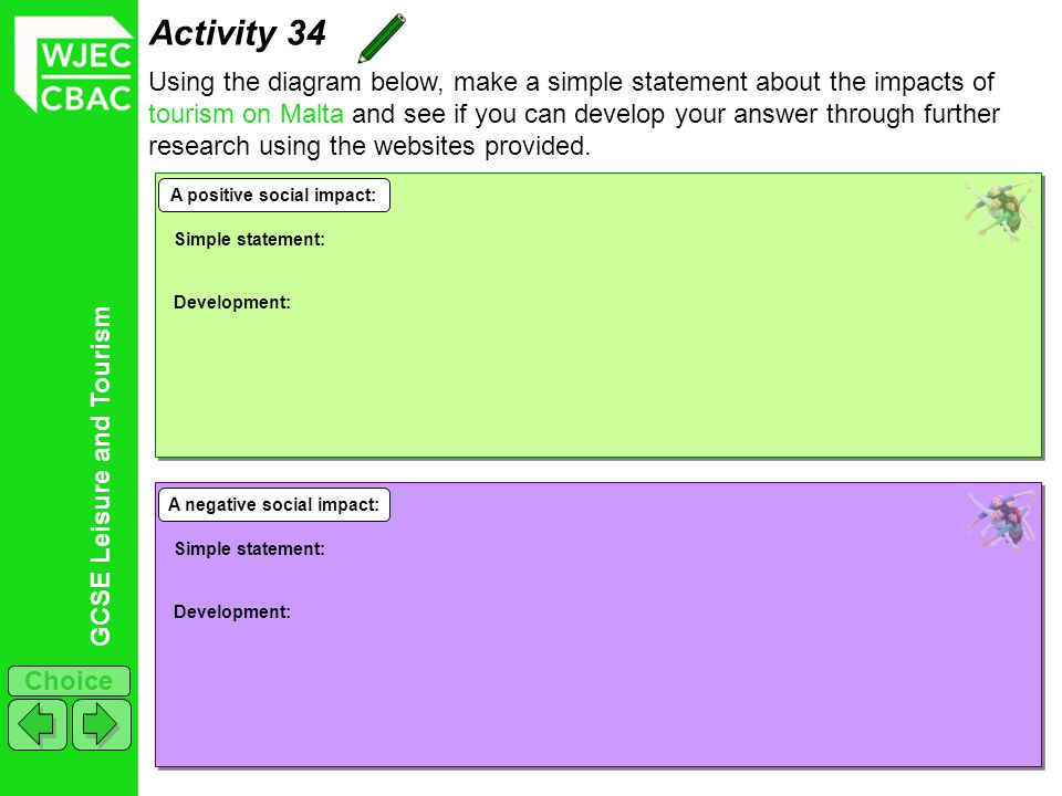 A positive social impact: A negative social impact: