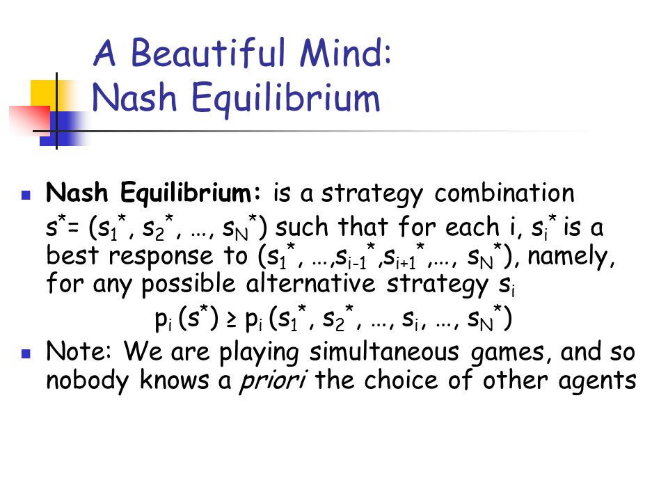 A Beautiful Mind: Nash Equilibrium