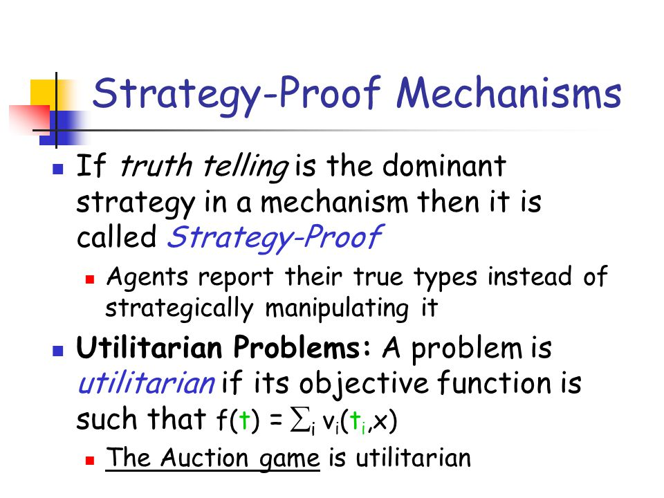 Strategy-Proof Mechanisms