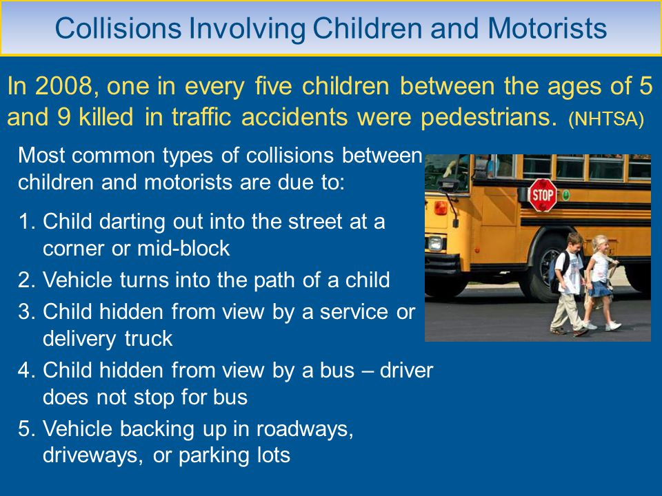 Collisions Involving Children and Motorists