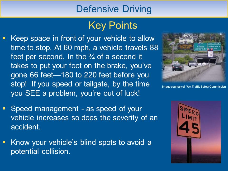 Key Points Defensive Driving