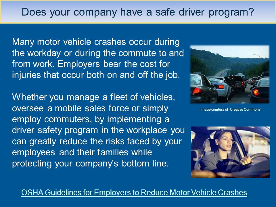 Does your company have a safe driver program