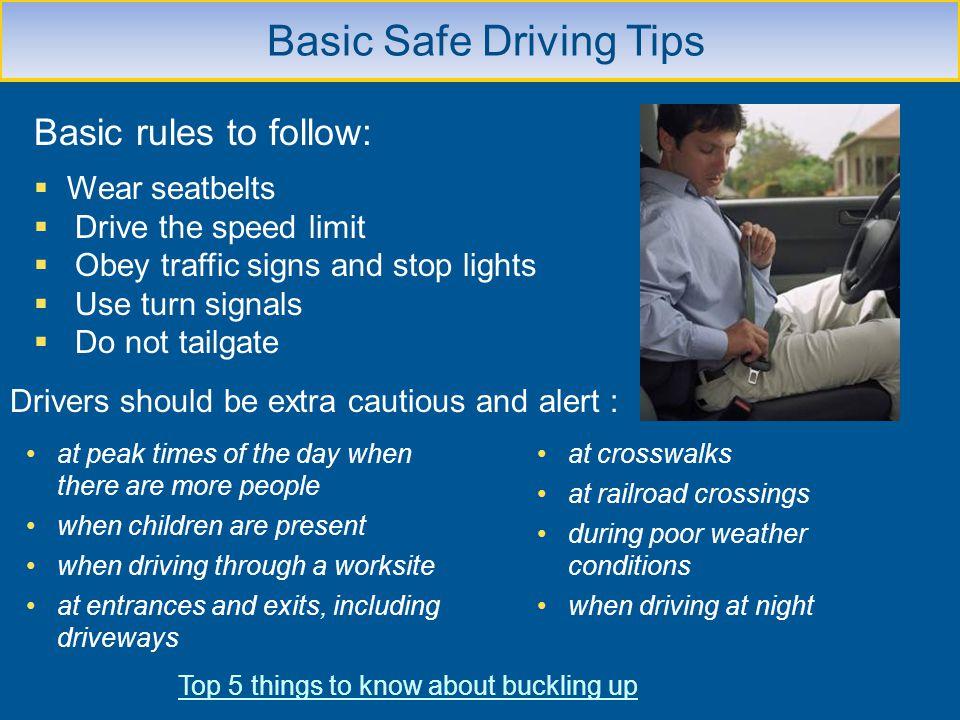 Basic Safe Driving Tips
