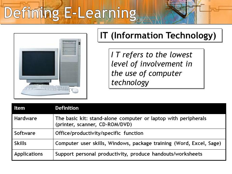 IT, ICT, Elearning - 1 IT (Information Technology)