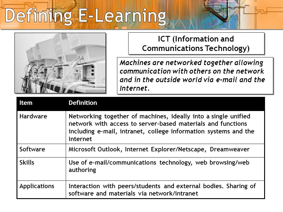 ICT (Information and Communications Technology)