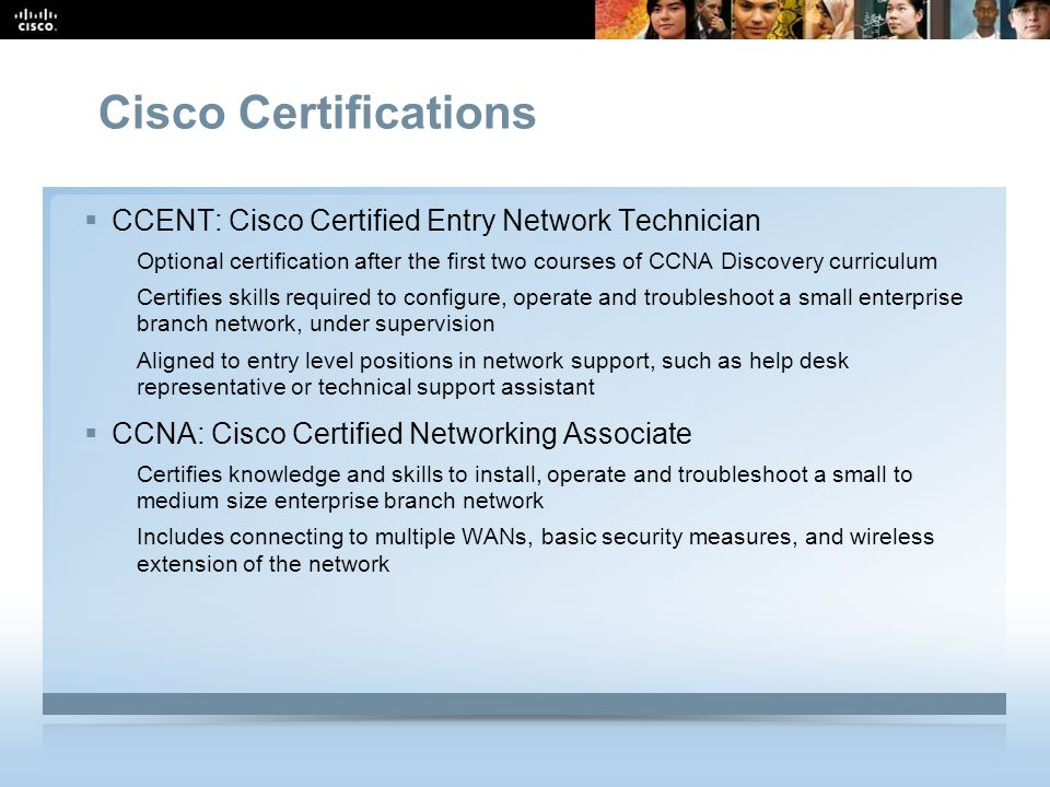 Cisco Certifications CCENT: Cisco Certified Entry Network Technician