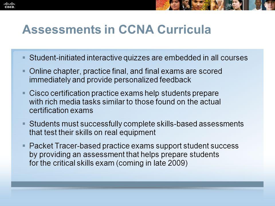 Assessments in CCNA Curricula