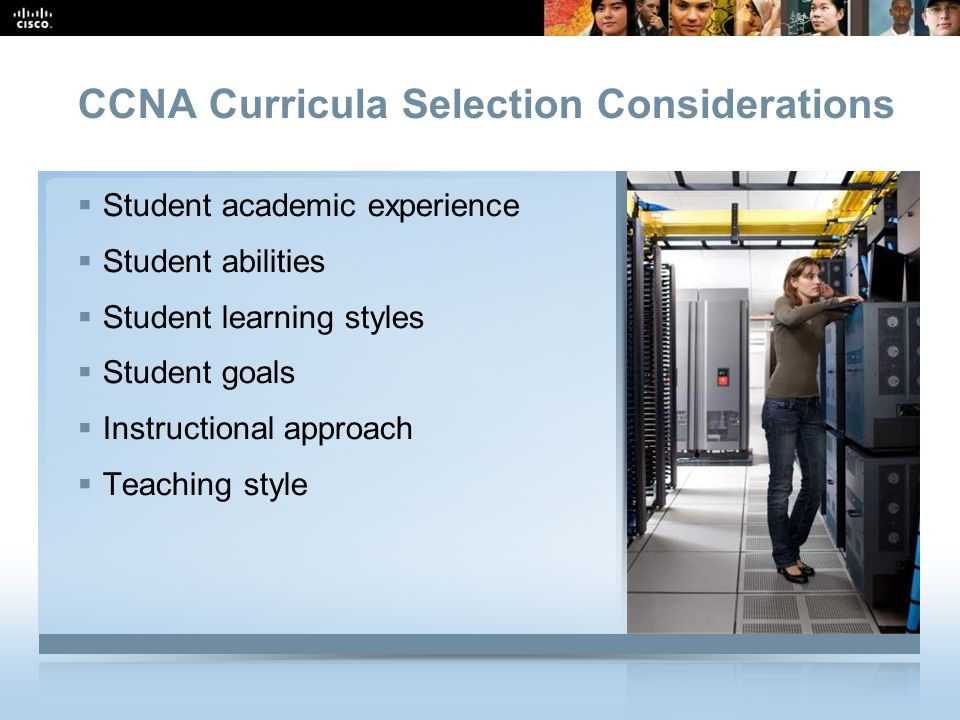 CCNA Curricula Selection Considerations