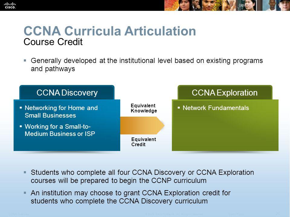 CCNA Curricula Articulation
