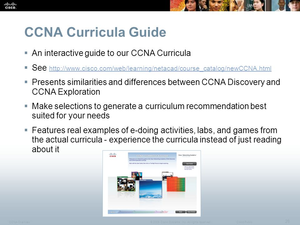 CCNA Curricula Guide An interactive guide to our CCNA Curricula