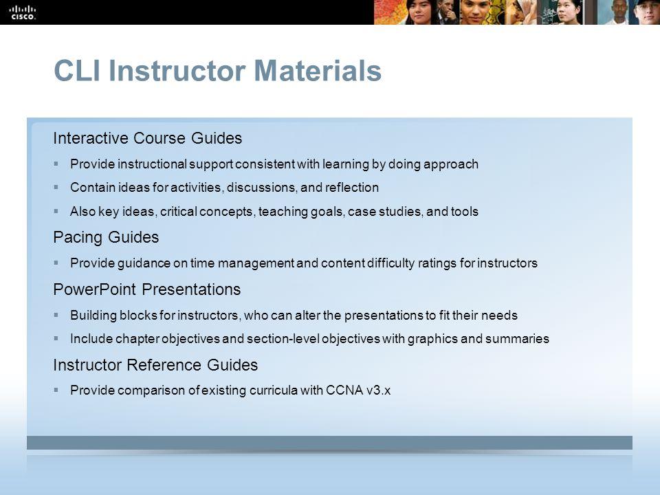 CLI Instructor Materials