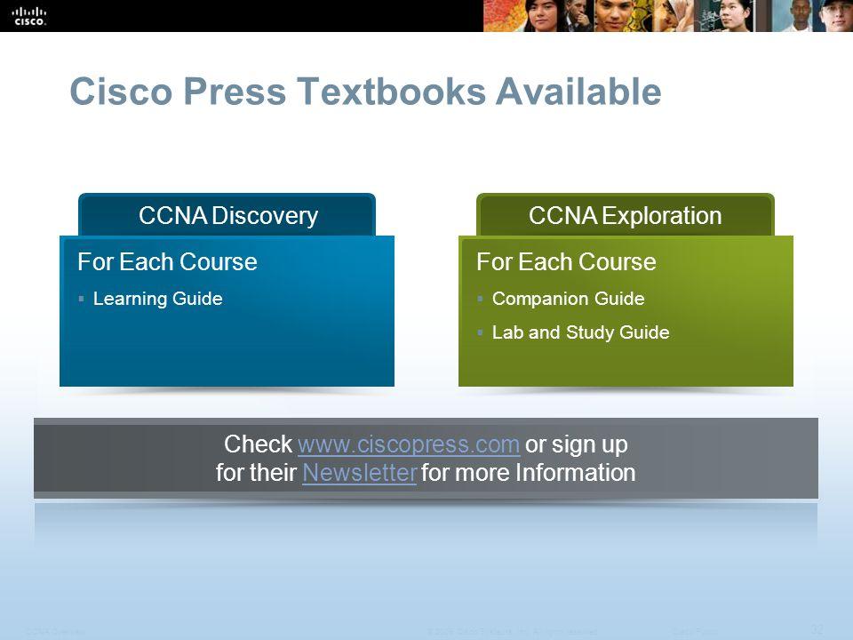 Cisco Press Textbooks Available