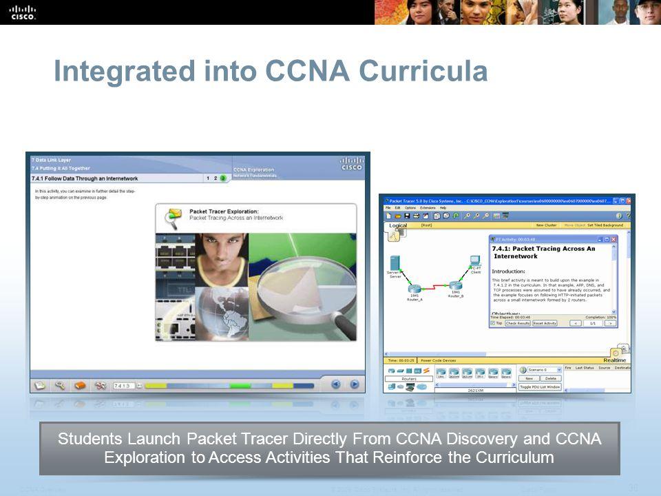 Integrated into CCNA Curricula