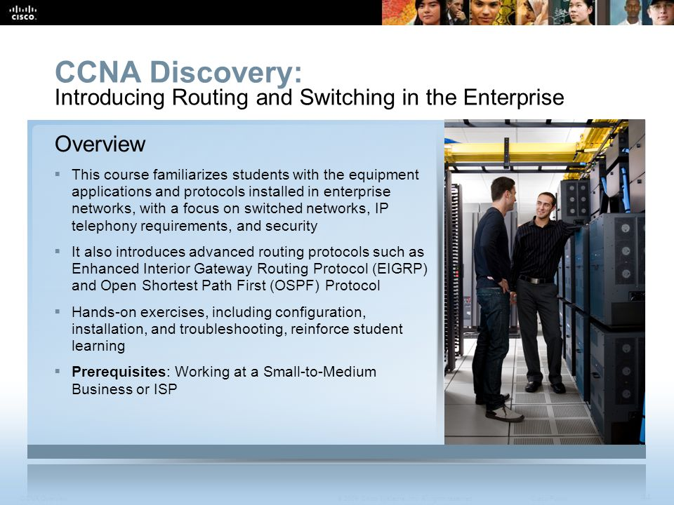 CCNA Discovery: Introducing Routing and Switching in the Enterprise