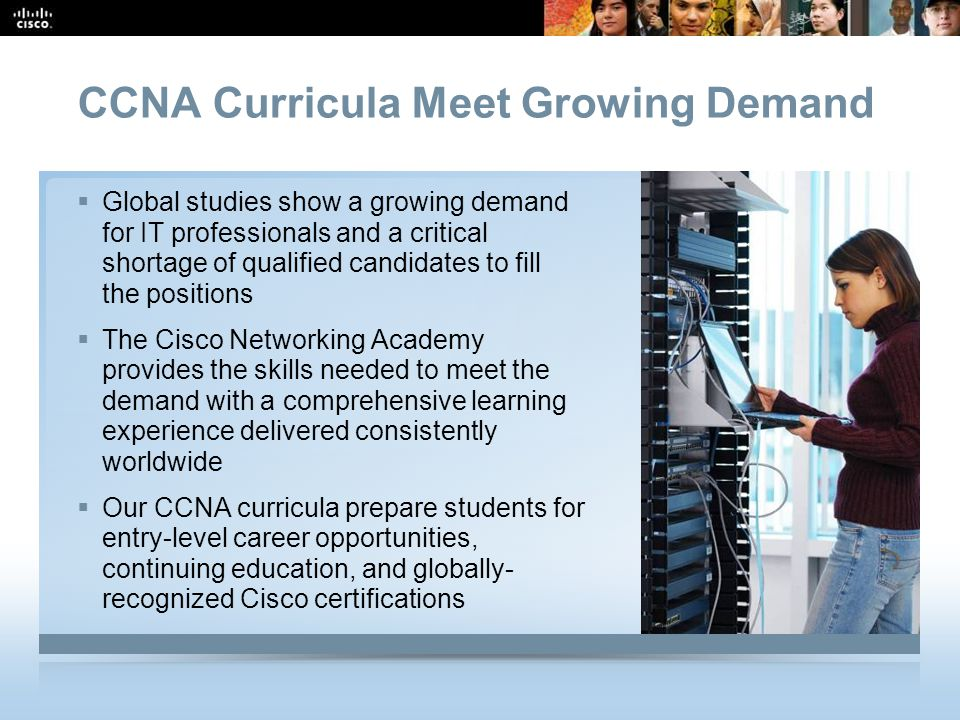 CCNA Curricula Meet Growing Demand