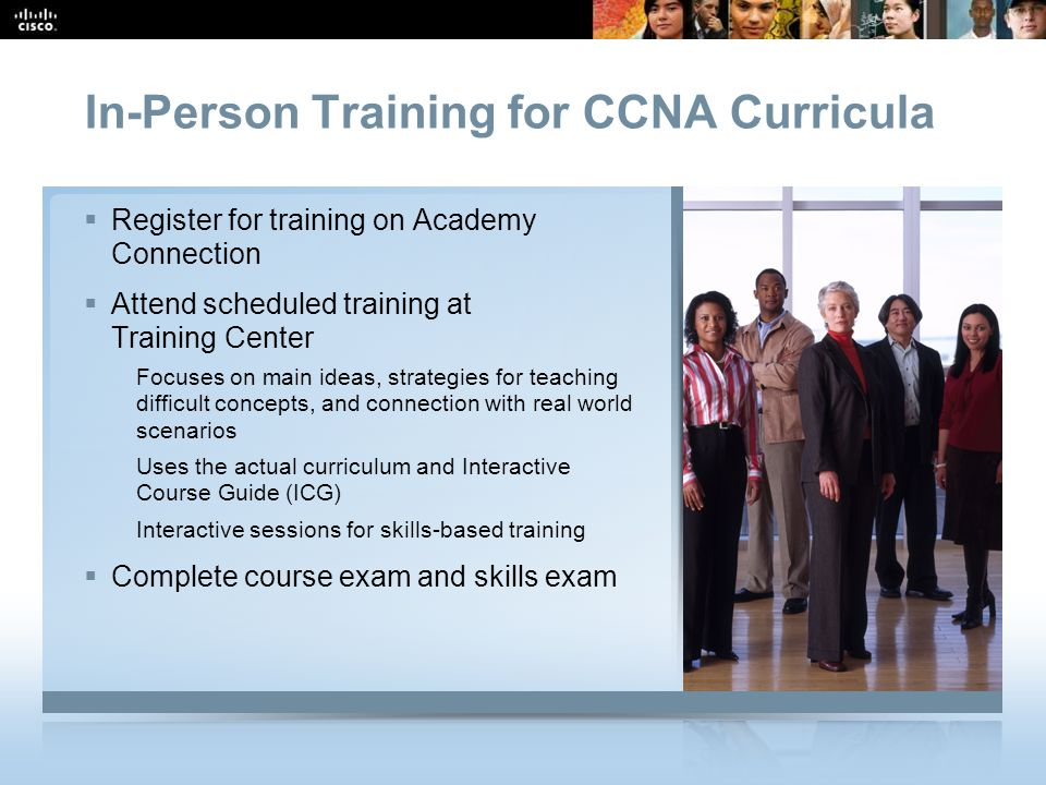 In-Person Training for CCNA Curricula