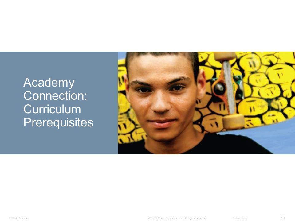Academy Connection: Curriculum Prerequisites