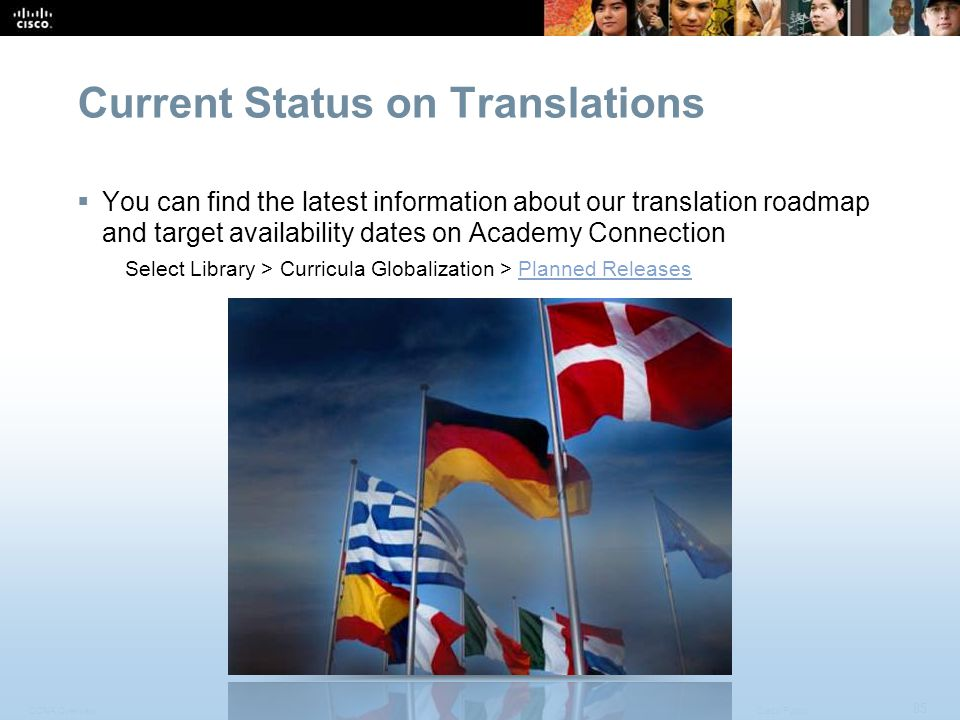 Current Status on Translations