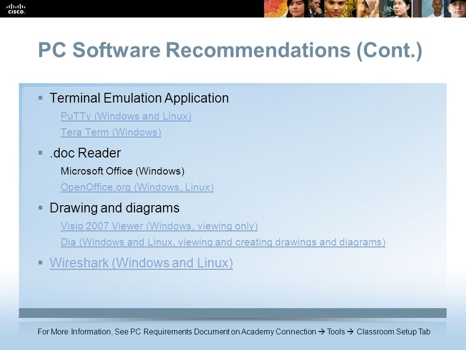 PC Software Recommendations (Cont.)