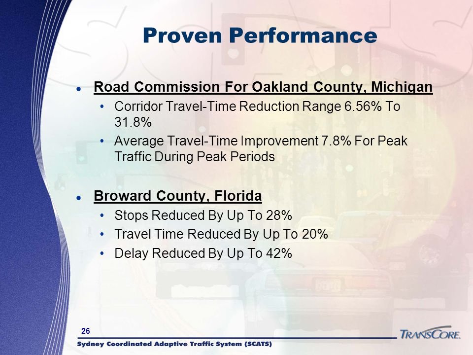 Proven Performance Road Commission For Oakland County, Michigan