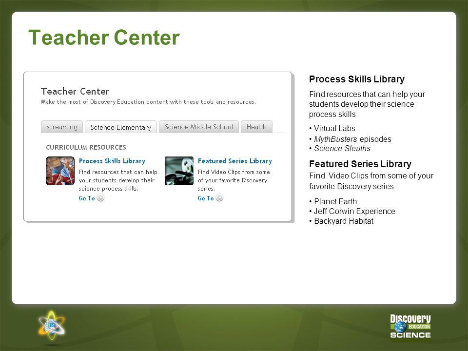 Teacher Center Process Skills Library Featured Series Library