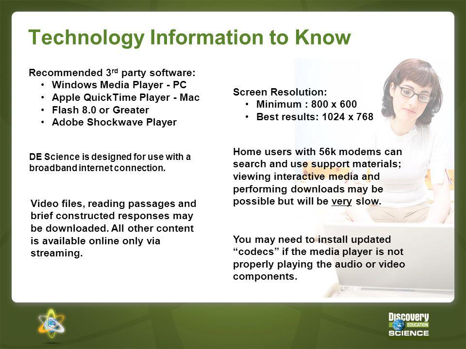 Technology Information to Know
